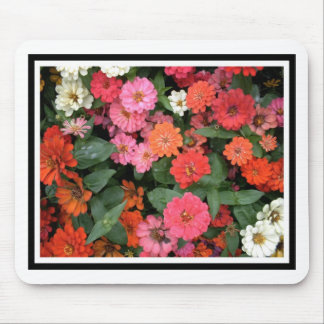 Flowers 15 framed version, colorful flowers bloomi mouse pad