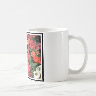 Flowers 15 framed version, colorful flowers bloomi coffee mugs