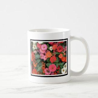 Flowers 15 framed version, colorful flowers bloomi coffee mug