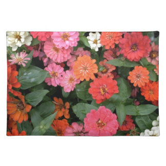 Flowers 15 framed version, colorful flowers bloomi place mats