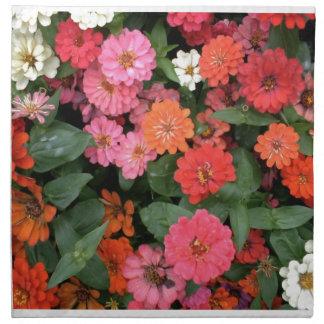 Flowers 15 framed version, colorful flowers bloomi printed napkins