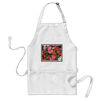 Flowers 15 framed version, colorful flowers bloomi standard apron