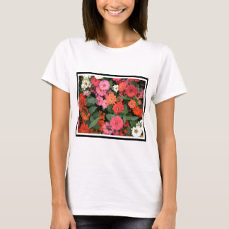 Flowers 15 framed version, colorful flowers bloomi T-Shirt