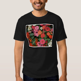 Flowers 15 framed version, colorful flowers bloomi t shirts