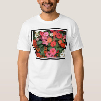 Flowers 15 framed version, colorful flowers bloomi tee shirts