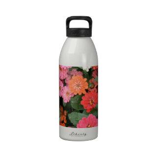 Flowers 15 framed version, colorful flowers bloomi water bottles