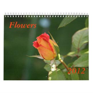 Flowers 2012 wall calendars