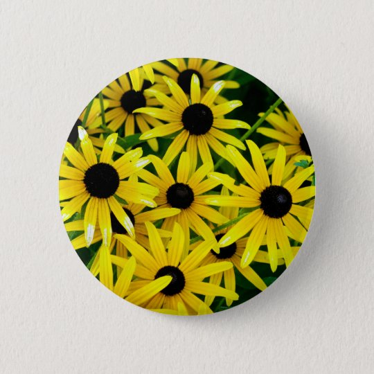 Flowers 6 Cm Round Badge