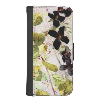 flowers abstract phone wallet case