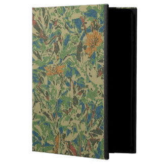 Flowers against leaf camouflage pattern cover for iPad air