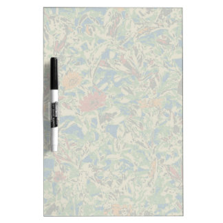 Flowers against leaf camouflage pattern dry erase whiteboards