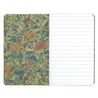 Flowers against leaf camouflage pattern journal