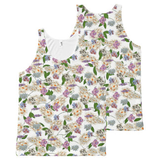 Flowers All-Over Print Tank Top