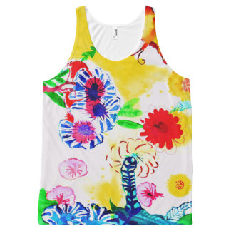 Flowers. All-Over Print Tank Top