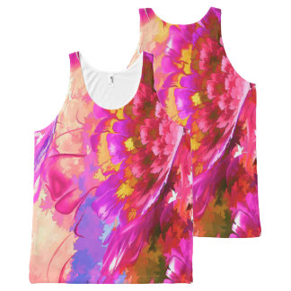 Flowers All-Over Printed Unisex Tank