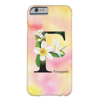 Flowers Alphabet with Watercolor Background Barely There iPhone 6 Case