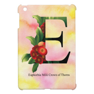 Flowers Alphabet with Watercolor Background Cover For The iPad Mini
