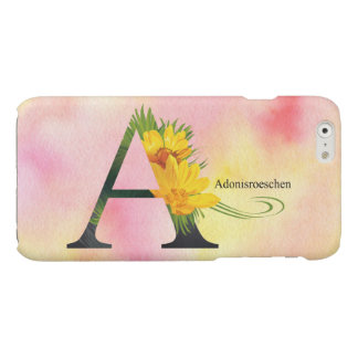 Flowers Alphabet with Watercolor Background iPhone 6 Plus Case