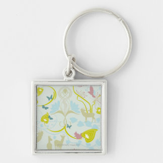 Flowers and Animals Key Ring