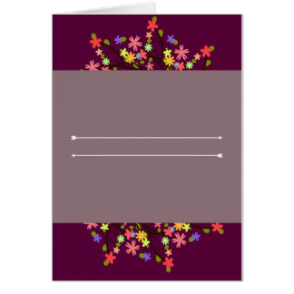 Flowers and Arrows Card