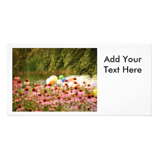 Flowers and Balloons Picture Card