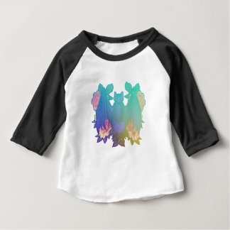 Flowers and bats baby T-Shirt