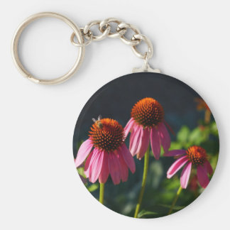 Flowers and Bee keychain