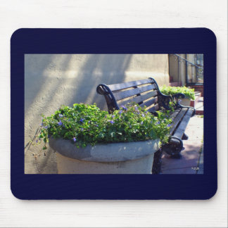 Flowers and Bench Mousepad