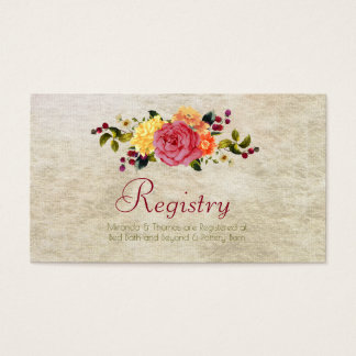 Flowers and Berries, Registration Cards