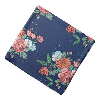 flowers and butterflies bandana
