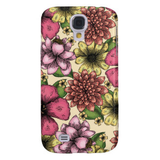 Flowers and Butterflies Galaxy S4 Case