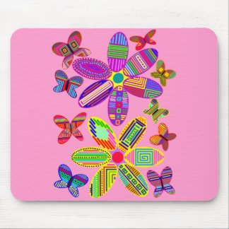 Flowers and Butterflies Mouse Mat