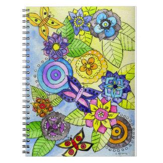 Flowers and Butterflies Notebook