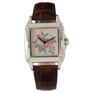 flowers and butterflies wrist watches