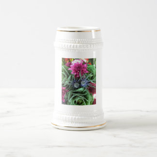 Flowers and Cabbages Beer Stein
