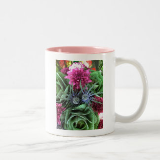 Flowers and Cabbages Two-Tone Coffee Mug