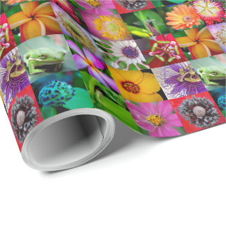Flowers and Creatures Wrapping Paper