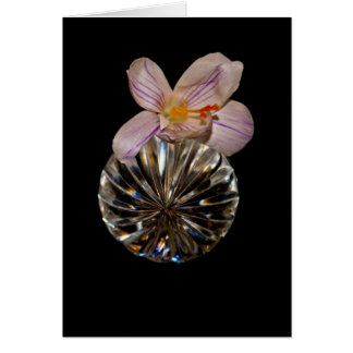 Flowers and Crystal Greeting Cards