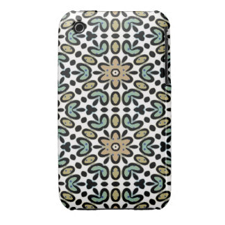FLOWERS AND DOTS iPhone 3G/3GS Case-Mate Case iPhone 3 Case-Mate Cases