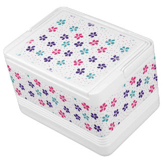 Flowers and Dots Pattern Igloo Cool Box