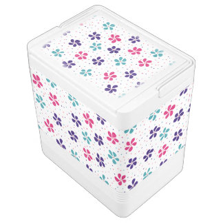 Flowers and Dots Pattern Igloo Cooler