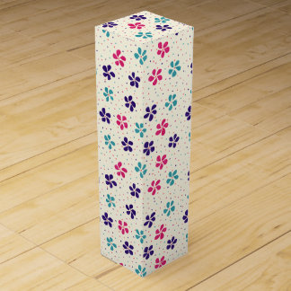 Flowers and Dots Pattern Wine Gift Boxes