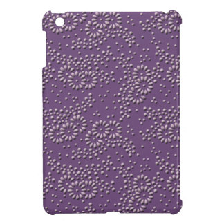 Flowers and dots purple japanese pattern cover for the iPad mini