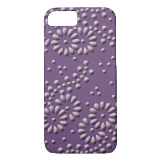 Flowers and dots purple japanese pattern iPhone 8/7 case