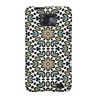 FLOWERS AND DOTS Samsung Galaxy S II Case Samsung Galaxy SII Cover