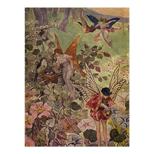 Flowers and Fairies Poster