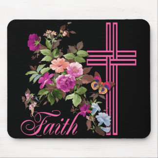 FLOWERS AND FAITH MOUSE MAT