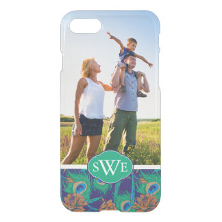 Flowers And Feathers | Add Your Photo & Monogram iPhone 7 Case