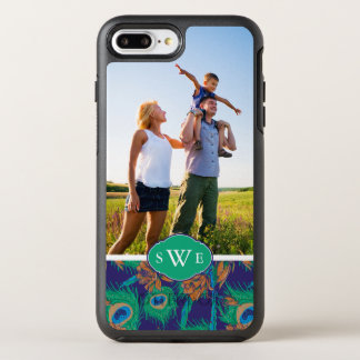 Flowers And Feathers| Add Your Photo & Monogram OtterBox Symmetry iPhone 8 Plus/7 Plus Case