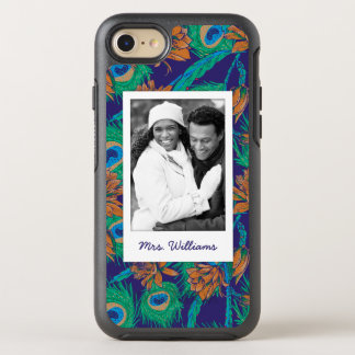 Flowers And Feathers   Add Your Photo & Name OtterBox Symmetry iPhone 7 Case